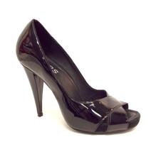 KORS by MICHAEL KORS Size 8.5 Black Patent Peep Toe Heels Pumps Shoes 8 1/2 - $43.20