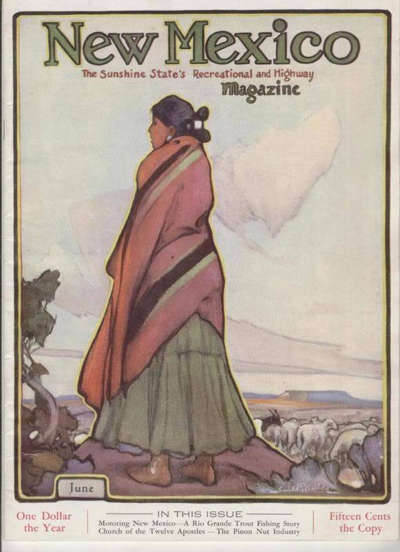 1933 JUNE NEW MEXICO MAGAZINE  THE SANTA FE TRAIL image 3