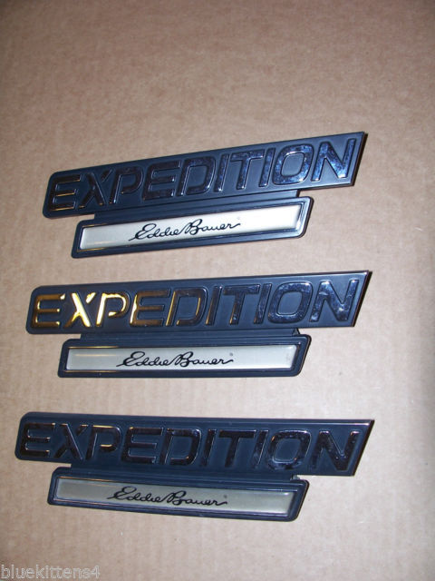 EDDIE BOWER 2001 EXPEDITION TRIM EMBLEM 3PC SET OEM USED ORIGINAL FORD PART 2000 image 1