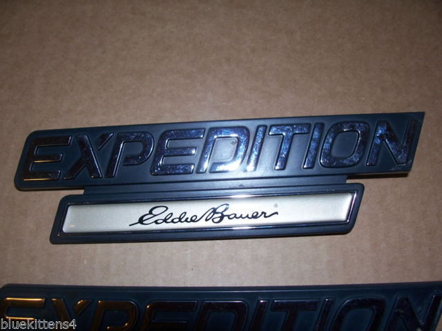 EDDIE BOWER 2001 EXPEDITION TRIM EMBLEM 3PC SET OEM USED ORIGINAL FORD PART 2000 image 3