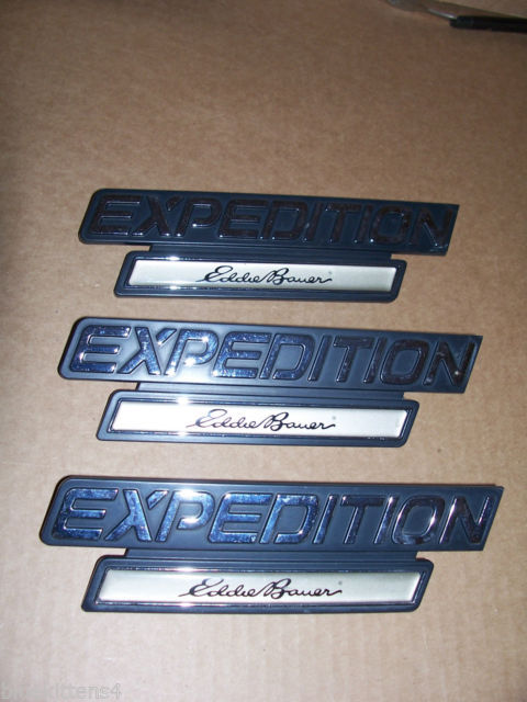 EDDIE BOWER 2001 EXPEDITION TRIM EMBLEM 3PC SET OEM USED ORIGINAL FORD PART 2000 image 2
