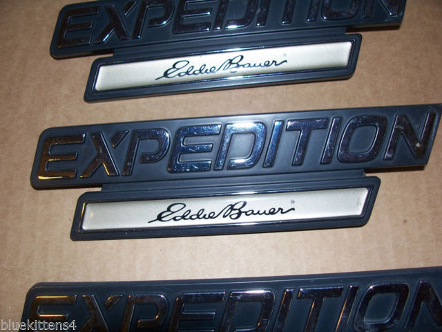 EDDIE BOWER 2001 EXPEDITION TRIM EMBLEM 3PC SET OEM USED ORIGINAL FORD PART 2000 image 5