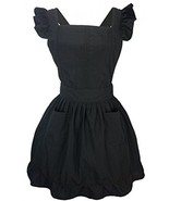LilMents Petite Maid Ruffle Retro Apron Kitchen Cooking Cleaning Fancy D... - $32.91