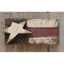 Patriotic BABY LATH FLAG Country Farmhouse Wall Hanging Sign Americana P... - $33.99