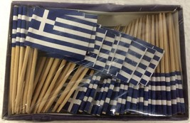 "200 Greek Greece Mini 2.5"" Flag Appetizer & Party Decoration Picks Tooth... - $9.59"