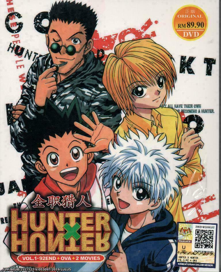 Hunter X Hunter Season 1 TV1-92 End +OVA + 2 Movies DVD Ship From USA