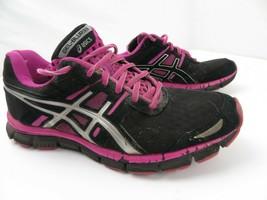 ASICS Gel Blur 33 Course Femmes Chaussures Taille 8.5 Noir Rose T1H8N - $16.69