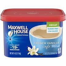 Maxwell House International Decaf Sugar Free French Vanilla Café, 4 oz C... - $27.52