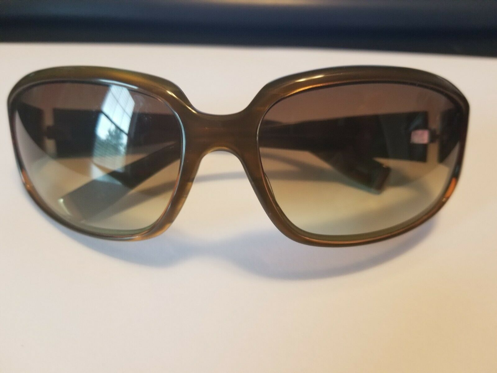 Authentic Oliver Peoples Kirra Tinted Sunglasses Brown Green 63 15-115 ..NEW image 5
