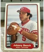 1982 Fleer BaseballCard #57 JOHNNY BENCH - Reds - $1.49