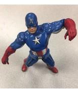 """Marvel  Disney Store Avengers CAPTAIN AMERICA 10½"""" Figure 2012 Tested. H... - $11.87"""