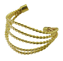 ideal Plain Gold Plated multi Bangle Glass freely US - $13.16
