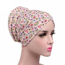 Women's cap Cancer Chemo Hat Beanie Scarf Turban Head Wrap Cap Touca inv... - ₨655.65 INR