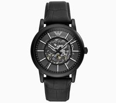 Emporio Armani Black Meccanico Skeleton Dial Automatic Luxury Watch AR60008 - $214.00