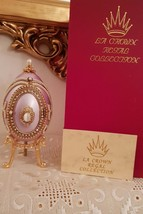 Egg Faberge Style One Only Unique Russian Goose Egg Fabergé Trinket Musical Hmde - $599.00