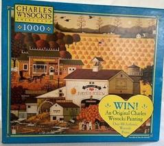 Charles Wysocki 1000 Pieces Jigsaw Puzzle Game Pumpkin Hollow 2003 Pumpk... - $20.05