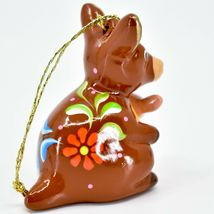 Handcrafted Painted Ceramic Kangaroo & Joey Confetti Ornament Made in Peru image 4