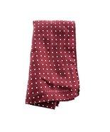 Tommy Hilfiger Men's Color Dot Silk Pocket Square in Burgundy - $24.75
