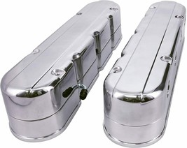 Chevy SB GM LS Smooth Cast Aluminum Valve Covers V8 293 325 376 427 Satin