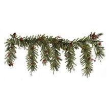 """6.5' x 35"""" Red Berry and Ball Ornament Mixed Pine Artificial Christmas G... - $204.47"""
