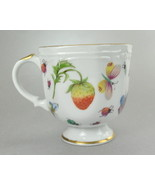 Ardalt Lenwile China Strawberries Butterflies 4 Oz Tea Cup 6395  - $6.75
