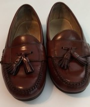 Cole Haan City Sz 9 E US Men's Brown Leather Slip On Tassels Loafers Shoes - $32.71