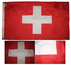 ALBATROS 3 ft x 5 ft Embroidered Sewn Switzerland Swiss 300-D Nylon Flag... - $56.94