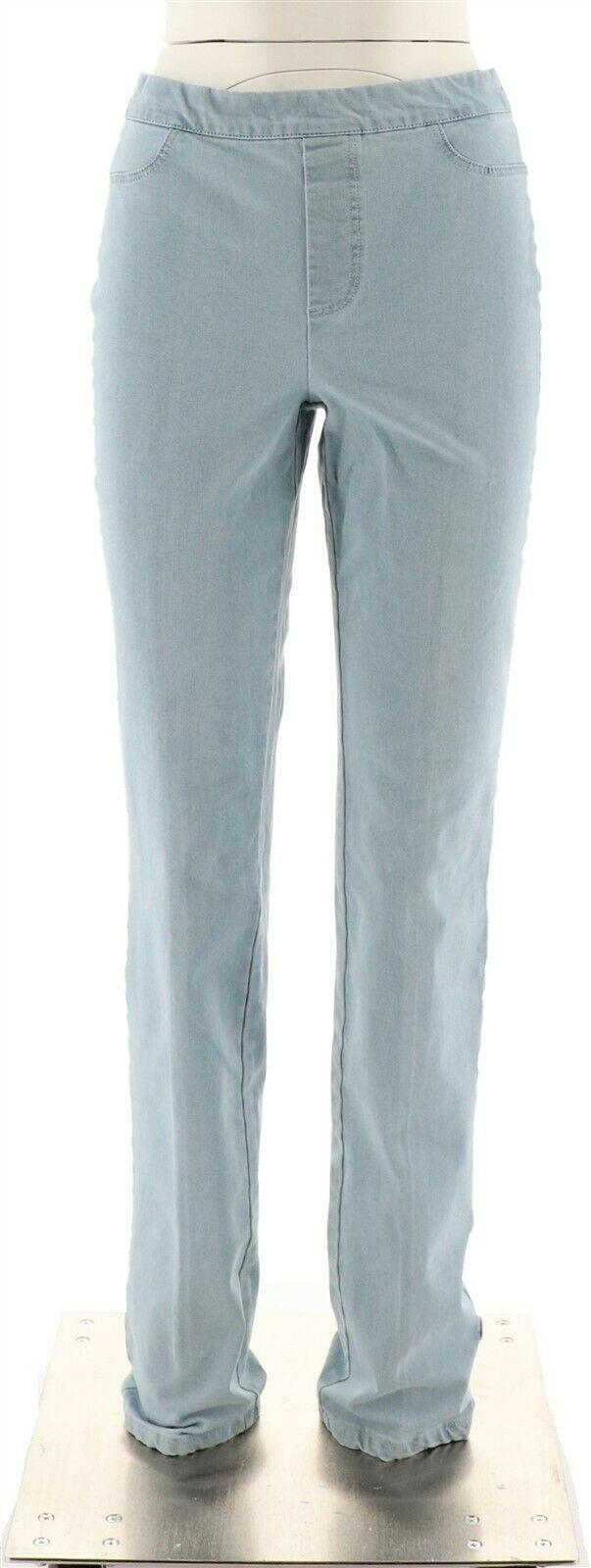Primary image for Isaac Mizrahi Tall 24/7 Denim Straight Leg Jeans Bleached Indigo 18 NEW A297723