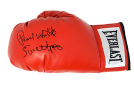 "Pernell Whitaker Signed Everlast Red Boxing Glove w/ ""Sweet Pea"" - $105.00"