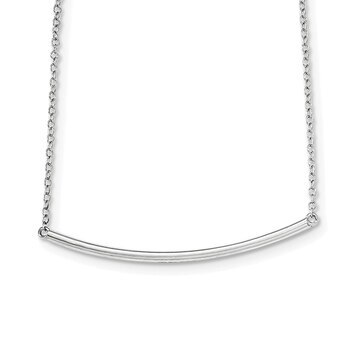 Primary image for Lex & Lu Sterling Silver Polished Necklace 16""