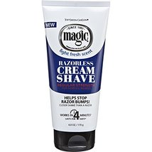 Magic Razorless Cream Shave Regular Strength Light Fresh Scent 6oz Tube image 12