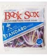 "Book Sox Original  Purple Yellow Electric Book Covers 10""HX8""W NIP  - $10.88"