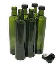 Olive Oil Bottles with Cap & Pourer Fitment, Empty, 500ml - Pack of 6 - $19.98