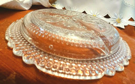 "Relish Dish Vintage Candy Fruit Three Compartment 8 1/2"" dia Clear Glass 1960's image 4"