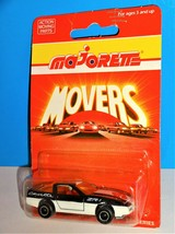 Majorette Movers 200 Series No. 215 / 268 Chevrolet Corvette Black & Whi... - $8.00
