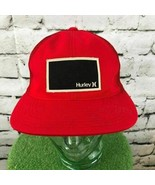 Hurley Mens One Sz Hat Red Fitted Meshback Flexfit Flat Bill Baseball Cap - $14.84