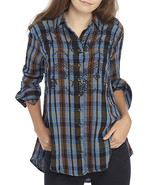 Free People Free People Magic Plaid Embroidery Shirt - $79.19+