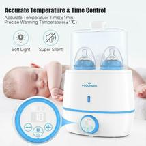 Baby Bottle Warmer & Bottle Sterilizer, 6-in-1 Double Bottle Warmer image 3