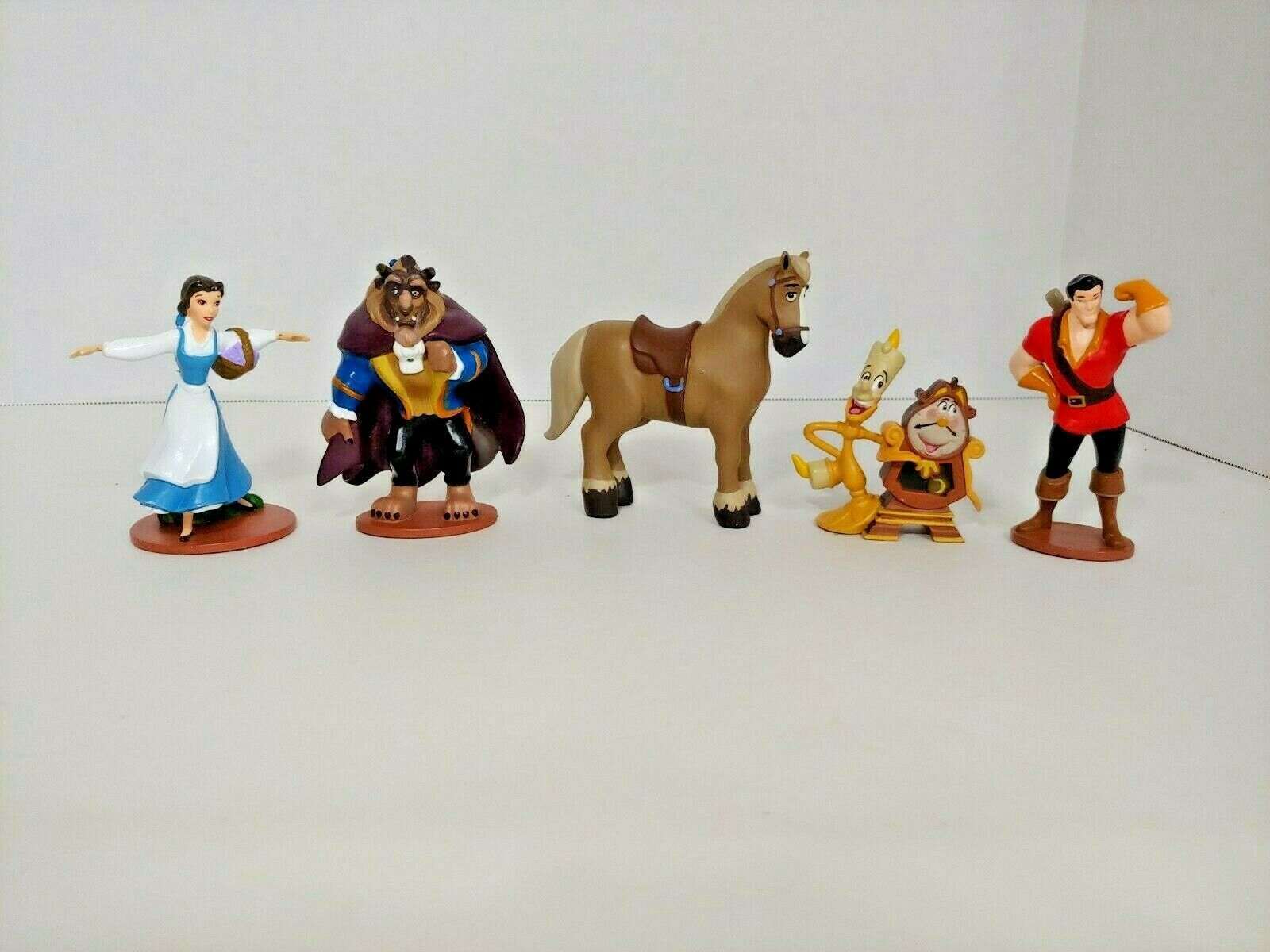 Primary image for Disney Beauty and the Beast toy action figure lot Lumiere Cogsworth Phillipe