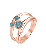 30ct Round London Blue Topaz 14k Rose Gold Over 925Silver Cute Mickey Mo... - $69.35