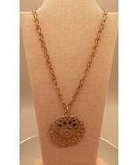vtg 70's 10k gold plated Dolce Vita Italy filigree necklace modernist si... - $19.60