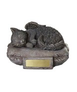 Pacific Giftware Pet Memorial Angel Cat Sleeping On Pillow Cremation Urn... - $34.64