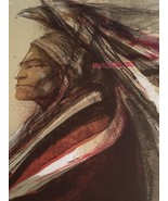 Larry Fodor: Hand Signed Numbered Native American Serigraph DUSTY STARS - $1,287.00