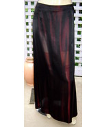 NEW YORK INDUSTRIE Coppery Sepia/Black Long Acetate/Silk A-line Skirt (4... - $78.30