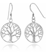925 Sterling Silver Tree Of Life Dangle Earrings for Women Gorgeous Jewe... - $63.85
