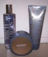 3 Pc Bath & Body Works Birch & Argan Set- Fragrance Mist, Body Butter Bo... - $27.50