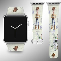 Toy Story Disney Apple Watch Band 38 40 42 44 mm Fabric Leather Strap 02 - $24.97