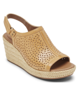 Womens Rockport Cobb Hill Erika Perforated Sandal - Amber Yellow, Size 7... - $109.99