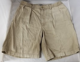 Ralph Lauren Polo Mens Pleated Front Shorts 100% Cotton Brown Size 36 FR... - $19.34