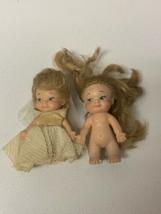 2 Vintage 1965 Uneeda Pee Wees Pocket Dolls PeeWee Bride  - $19.35
